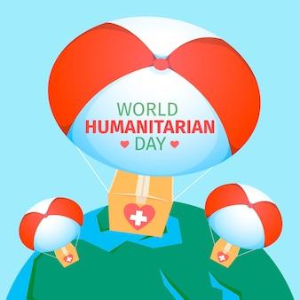 World humanitarian day flat design