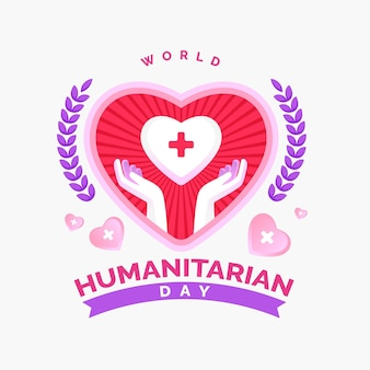 World humanitarian day illustration