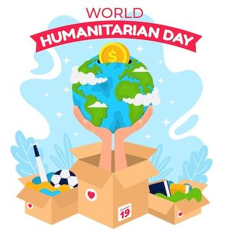 Illustrazione della giornata mondiale umanitaria