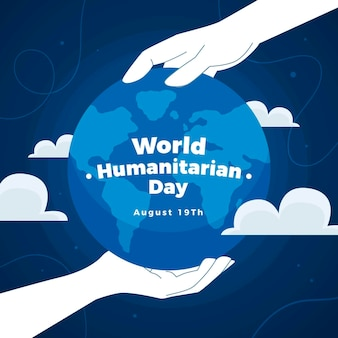 World humanitarian day illustration
