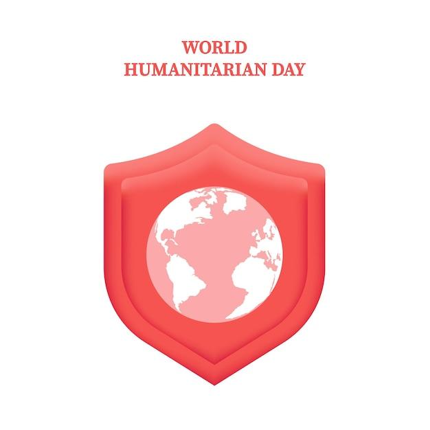 매년 8월 19일에 열리는 세계 인도주의의 날 전 세계 배너 템플릿 care help