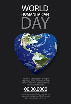 Шаблон плаката всемирного дня гуманитарной науки