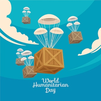World humanitarian day with boxes