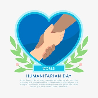 World humanitarian day with people holding hands