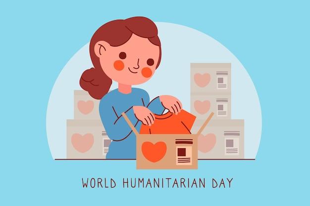 Всемирный гуманитарный день с женщиной