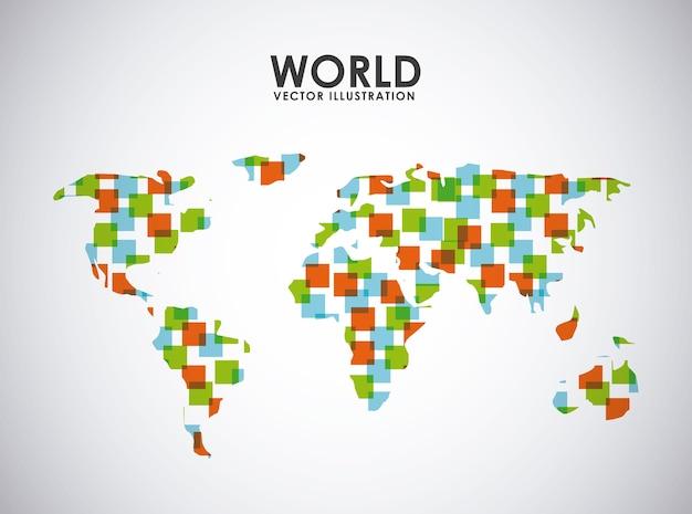 世界のアイコンデザイン、ベクトルイラストeps10グラフィック