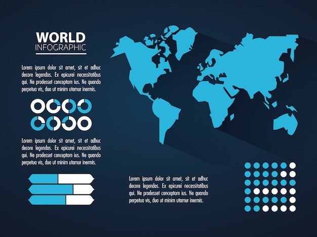 世界のインフォグラフィックコンセプト