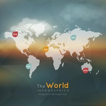 Il infografica mondo