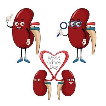 World kidney day cartoon