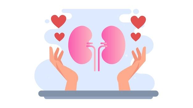 World kidney day illustration background