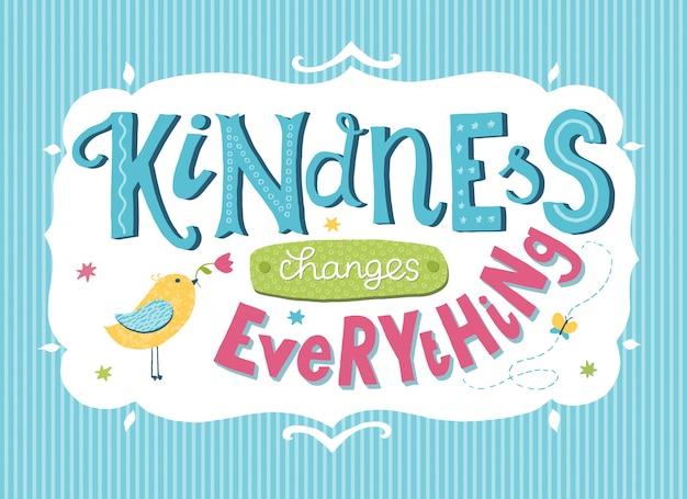 World kindness day card
