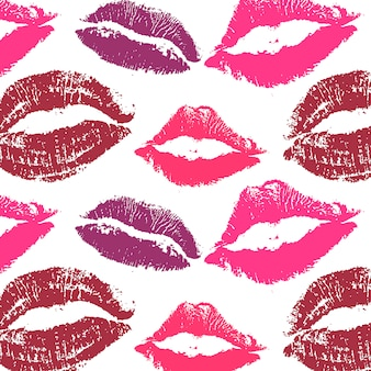 World kiss day. pattern lips pomade