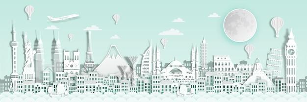 World landmark for travel poster.