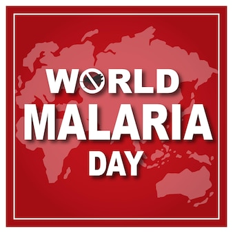 World malaria day banner with world map background