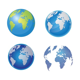 World vectors photos and psd files free download world map and globe vector illustration gumiabroncs Choice Image