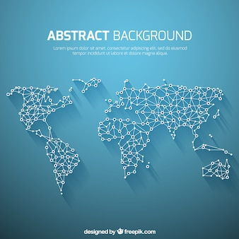 World map background in abstract style