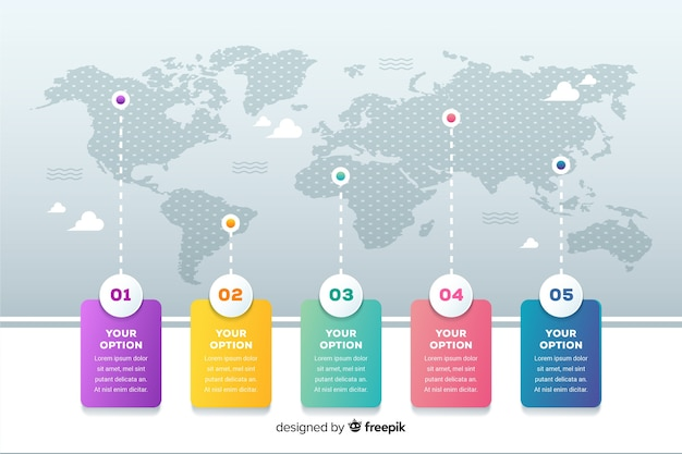 World map business infographic