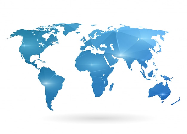 World map illustration.