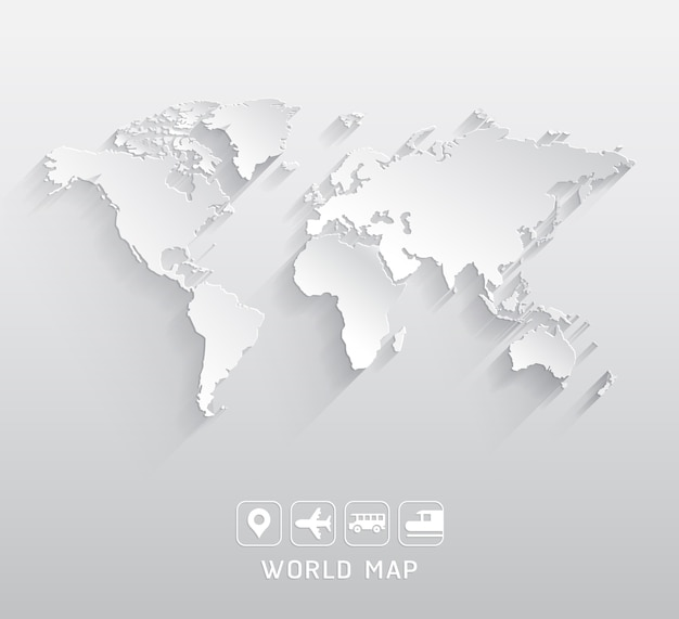 World map illustrations