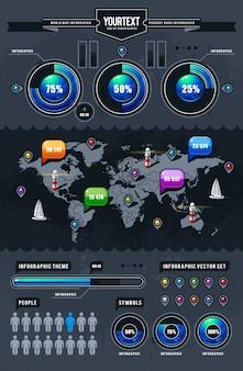 World map infographic design