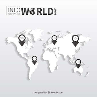 Geographical world map vectors photos and psd files free download world map infographic gumiabroncs Gallery