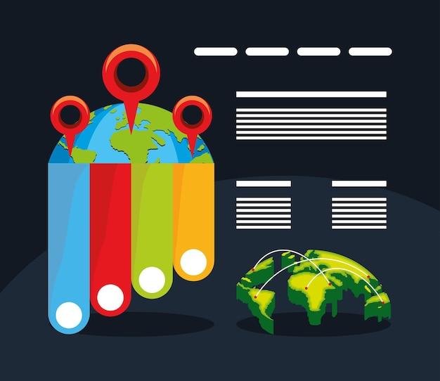 세계 지도 인포 그래픽