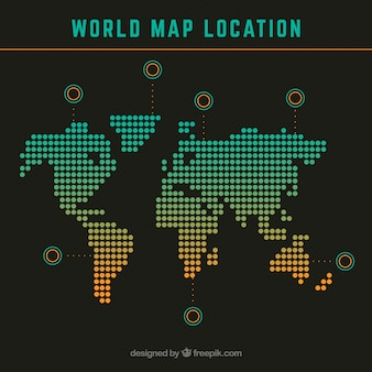 World map location