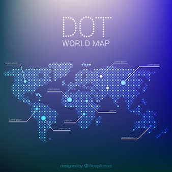 Dotted world map vectors photos and psd files free download world map made of dots in flat design gumiabroncs Image collections