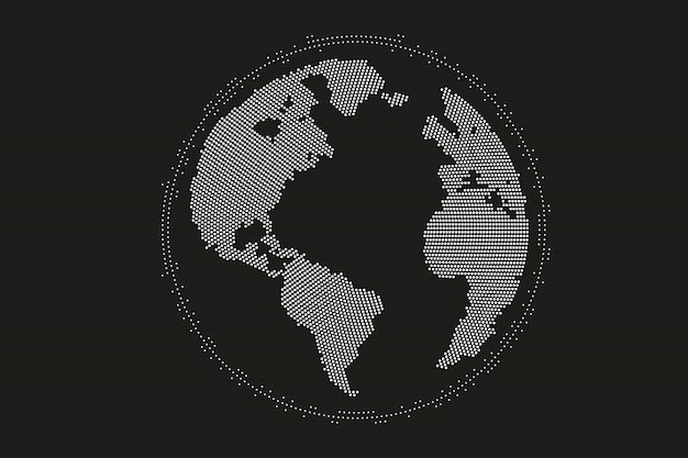 World map point, line, composition, representing the global, global network connection, international meaning