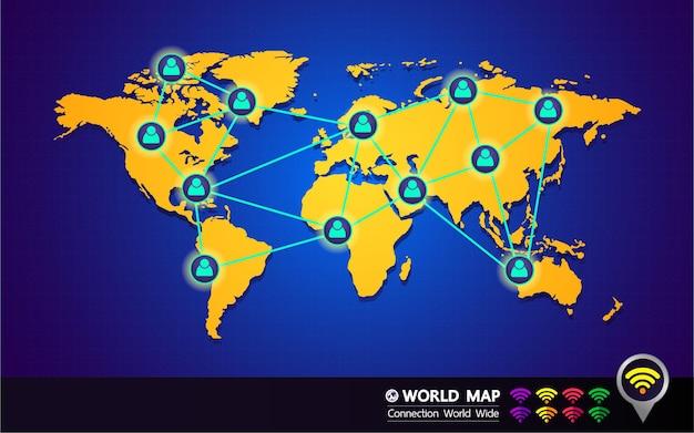 世界地図のベクトル図