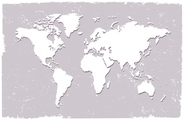 World map in vintage style