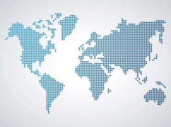 Dotted world map vectors photos and psd files free download world map gumiabroncs Images