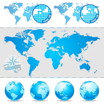 세계지도와 지구본