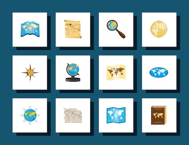 世界地図ナビゲーション