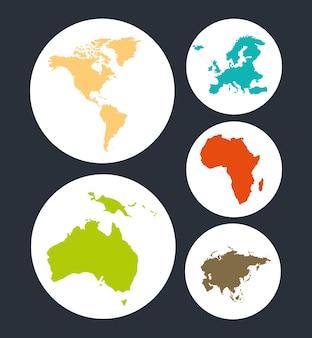 Набор карт мира