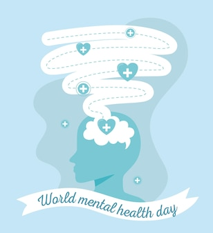 World mental health card style