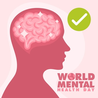 World mental health day concept
