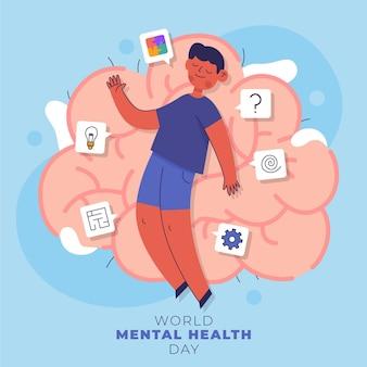 World mental health day illustration