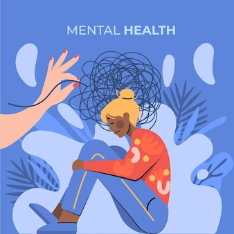 World mental health day illustration