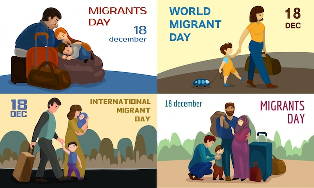 World migrants day backgrounds