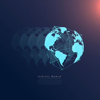 Всемирная сеть связи цифровая технология концепция фон