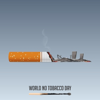 World no tobacco day, 31 may no smoking poster.