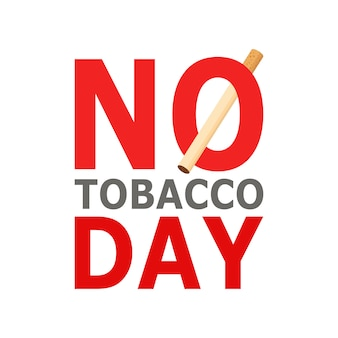 World no tobacco day, the 31st of may. cartoon style