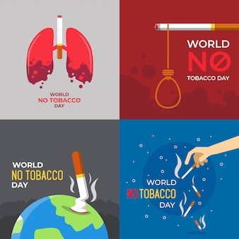 World no tobacco day illustration