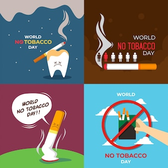 World no tobacco day illustration