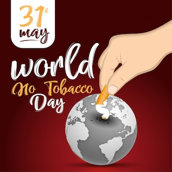 World no tobacco day vector concept