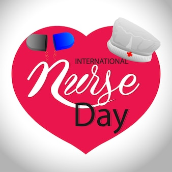 World nurse day illustration with vector illustration and mediacal equipment