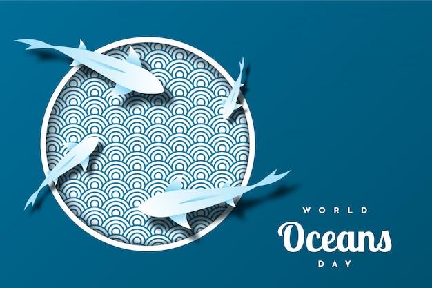 Всемирный день океана иллюстрация дизайн шаблона