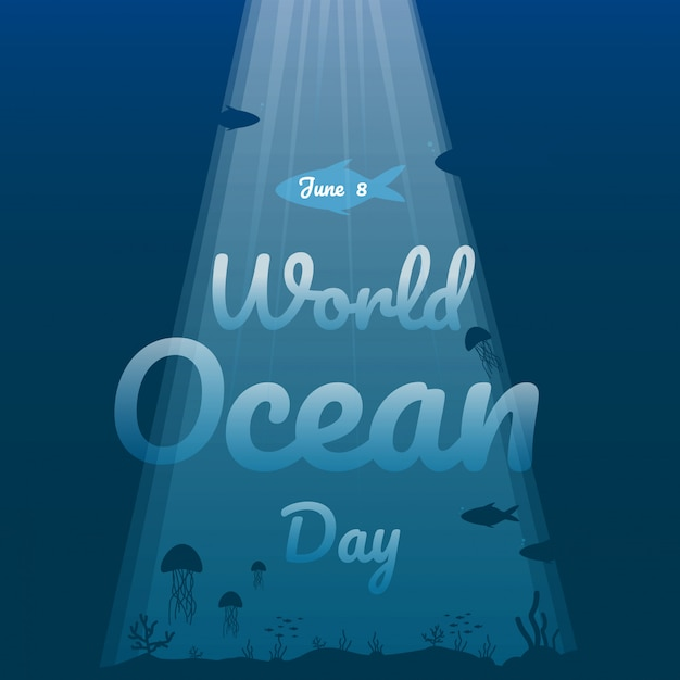 World ocean day illustration