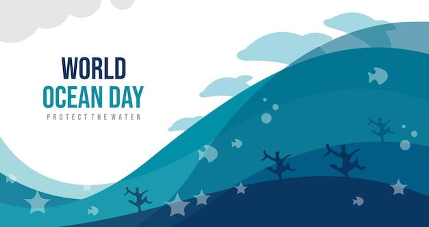 World ocean day, protect the water